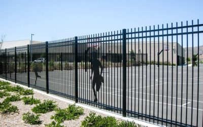 Montage Welded Commercial Ornamental Steel Fence