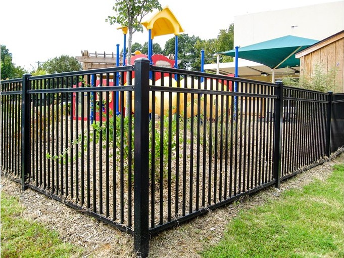 Montage Welded Commercial Ornamental Steel Fence Cedar