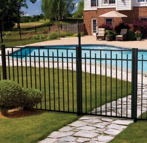 Independence Plus Ornamental Aluminum Fence Cedar